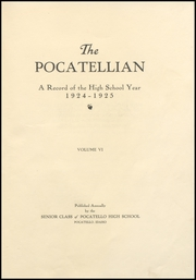 Page 11, 1925 Edition, Pocatello High School - Pocatellian Yearbook (Pocatello, ID) online yearbook collection