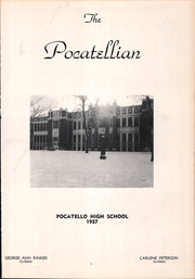 Page 5, 1957 Edition, Pocatello High School - Pocatellian Yearbook (Pocatello, ID) online yearbook collection
