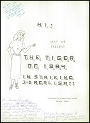 Page 7, 1954 Edition, Jerome High School - Tiger Yearbook (Jerome, ID) online yearbook collection