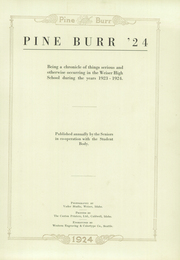 Page 7, 1924 Edition, Weiser High School - Pineburr Yearbook (Weiser, ID) online yearbook collection