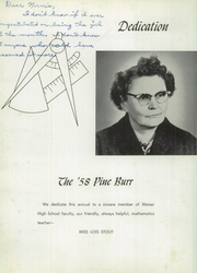 Page 6, 1958 Edition, Weiser High School - Pineburr Yearbook (Weiser, ID) online yearbook collection