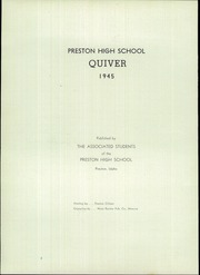 Page 6, 1945 Edition, Preston High School - Quiver Yearbook (Preston, ID) online yearbook collection