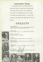 Page 10, 1958 Edition, Salmon High School - Savage Chief Yearbook (Salmon, ID) online yearbook collection