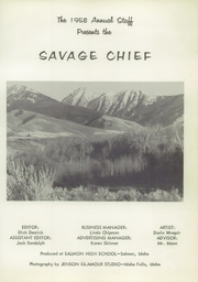 Page 7, 1958 Edition, Salmon High School - Savage Chief Yearbook (Salmon, ID) online yearbook collection