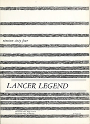 Page 5, 1964 Edition, Thousand Oaks High School - Lancer Legend Yearbook (Thousand Oaks, CA) online yearbook collection