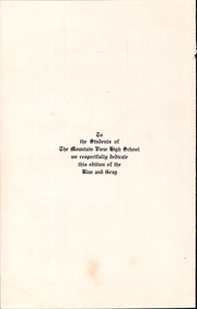 Page 4, 1915 Edition, Mountain View Union High School - Blue and Gray Yearbook (Mountain View, CA) online yearbook collection