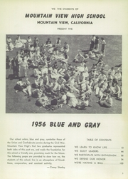 Page 9, 1956 Edition, Mountain View Union High School - Blue and Gray Yearbook (Mountain View, CA) online yearbook collection