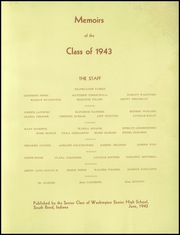 Page 3, 1943 Edition, Washington High School - Memory Lane Yearbook (South Bend, IN) online yearbook collection