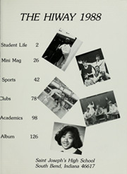 Page 5, 1988 Edition, St Josephs High School - HiWay Yearbook (South Bend, IN) online yearbook collection