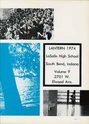 Page 5, 1974 Edition, LaSalle High School - Lantern Yearbook (South Bend, IN) online yearbook collection