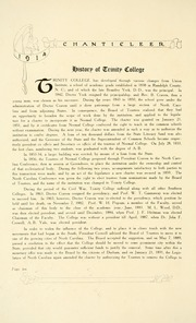 Page 18, 1914 Edition, Duke University - Chanticleer Yearbook (Durham, NC) online yearbook collection