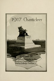 Page 11, 1917 Edition, Duke University - Chanticleer Yearbook (Durham, NC) online yearbook collection
