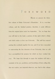Page 12, 1943 Edition, Duke University - Chanticleer Yearbook (Durham, NC) online yearbook collection