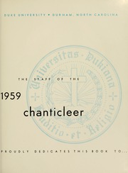 Page 5, 1959 Edition, Duke University - Chanticleer Yearbook (Durham, NC) online yearbook collection