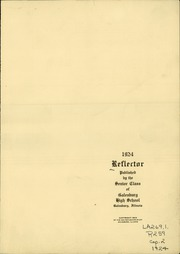 Page 3, 1924 Edition, Galesburg High School - Reflector Yearbook (Galesburg, IL) online yearbook collection