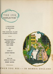 Page 7, 1938 Edition, Galesburg High School - Reflector Yearbook (Galesburg, IL) online yearbook collection