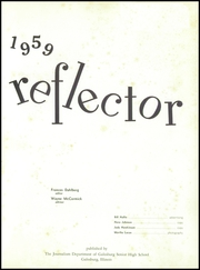Page 5, 1959 Edition, Galesburg High School - Reflector Yearbook (Galesburg, IL) online yearbook collection