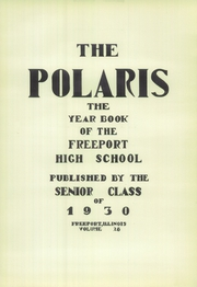 Page 7, 1930 Edition, Freeport High School - Polaris Yearbook (Freeport, IL) online yearbook collection