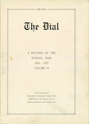 Page 7, 1927 Edition, Carbondale Community High School - Dial Yearbook (Carbondale, IL) online yearbook collection