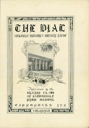 Page 7, 1928 Edition, Carbondale Community High School - Dial Yearbook (Carbondale, IL) online yearbook collection