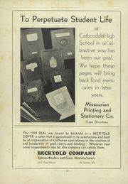 Page 76, 1934 Edition, Carbondale Community High School - Dial Yearbook (Carbondale, IL) online yearbook collection