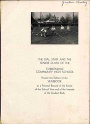 Page 7, 1938 Edition, Carbondale Community High School - Dial Yearbook (Carbondale, IL) online yearbook collection