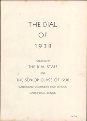 Page 9, 1938 Edition, Carbondale Community High School - Dial Yearbook (Carbondale, IL) online yearbook collection