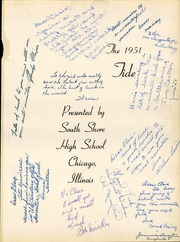 Page 5, 1951 Edition, South Shore High School - Tide Yearbook (Chicago, IL) online yearbook collection
