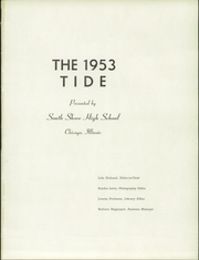 Page 5, 1953 Edition, South Shore High School - Tide Yearbook (Chicago, IL) online yearbook collection