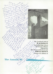 Page 5, 1957 Edition, Waukegan High School - Annual W Yearbook (Waukegan, IL) online yearbook collection