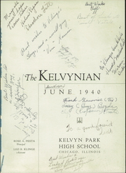 Page 3, 1940 Edition, Kelvyn Park High School - Kelvynian Yearbook (Chicago, IL) online yearbook collection