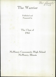 Page 5, 1963 Edition, McHenry Community High School - Warrior Yearbook (McHenry, IL) online yearbook collection