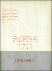 Page 7, 1951 Edition, Weber High School - Dolphin Yearbook (Chicago, IL) online yearbook collection
