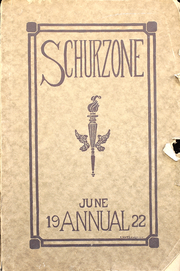 Page 1, 1922 Edition, Carl Schurz High School - Schurzone Yearbook (Chicago, IL) online yearbook collection