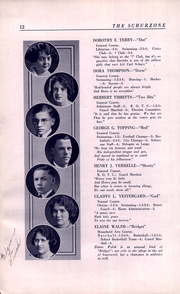 Page 14, 1922 Edition, Carl Schurz High School - Schurzone Yearbook (Chicago, IL) online yearbook collection