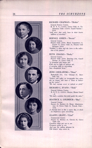 Page 16, 1922 Edition, Carl Schurz High School - Schurzone Yearbook (Chicago, IL) online yearbook collection