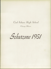 Page 5, 1951 Edition, Carl Schurz High School - Schurzone Yearbook (Chicago, IL) online yearbook collection