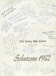 Page 5, 1952 Edition, Carl Schurz High School - Schurzone Yearbook (Chicago, IL) online yearbook collection