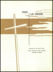 Page 5, 1959 Edition, St Patrick High School - La Croix Yearbook (Chicago, IL) online yearbook collection