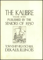 Page 7, 1930 Edition, Dekalb High School - Kalibre Yearbook (Dekalb, IL) online yearbook collection