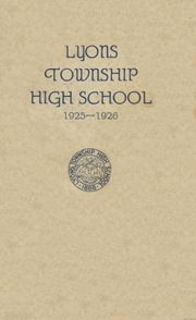 Page 1, 1926 Edition, Lyons Township High School - Tabulae Yearbook (La Grange, IL) online yearbook collection