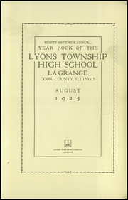 Page 7, 1926 Edition, Lyons Township High School - Tabulae Yearbook (La Grange, IL) online yearbook collection