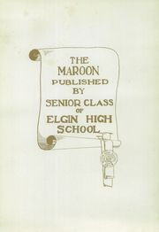 Page 7, 1919 Edition, Elgin High School - Maroon Yearbook (Elgin, IL) online yearbook collection