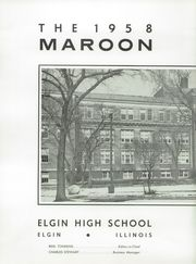 Page 6, 1958 Edition, Elgin High School - Maroon Yearbook (Elgin, IL) online yearbook collection