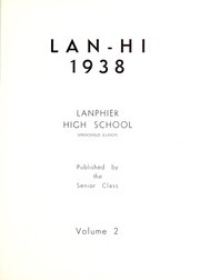 Page 7, 1938 Edition, Lanphier High School - Lan Hi Yearbook (Springfield, IL) online yearbook collection