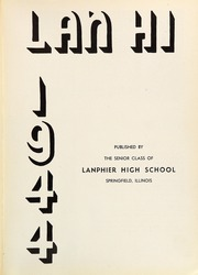 Page 5, 1944 Edition, Lanphier High School - Lan Hi Yearbook (Springfield, IL) online yearbook collection