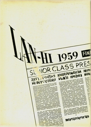 1959 Edition, Lanphier High School - Lan Hi Yearbook (Springfield, IL)