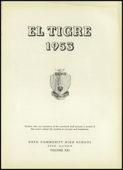 Page 5, 1953 Edition, Dupo Community High School - El Tigre Yearbook (Dupo, IL) online yearbook collection