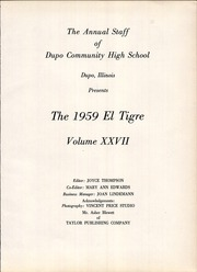 Page 5, 1959 Edition, Dupo Community High School - El Tigre Yearbook (Dupo, IL) online yearbook collection