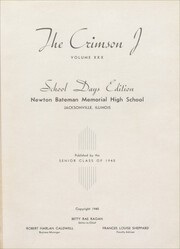 Page 5, 1940 Edition, Jacksonville High School - Crimson J Yearbook (Jacksonville, IL) online yearbook collection